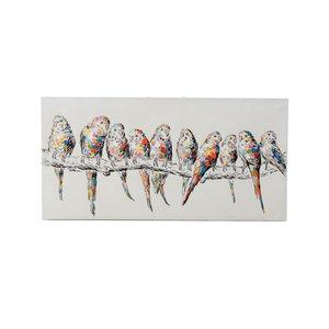 Poco Tablou papagali, Canvas, Multicolor