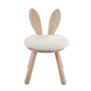 Rabbit Ears Scaun, Lemn, Alb