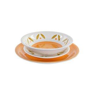 Riley Set de masa 18 piese, Ceramica, Portocaliu