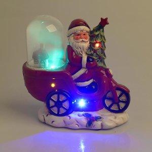 Santa Decoratiune luminoasa, Rosu