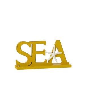 Sea Decoratiune, Lemn, Galben