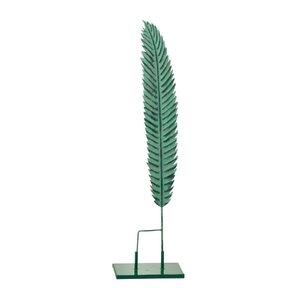 Stalk Decoratiune pana mica, Metal, Verde