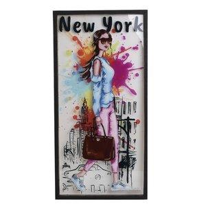 York Tablou, Lemn, Multicolor