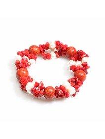 Bratara cu coral spongios si perle de cultura