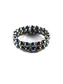 Bratara elastica cu doua randuri de perle de cultura