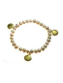 Bratara IJOO, cu perle de cultura - Gold Sheel Charm