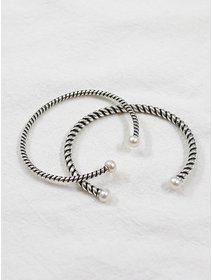 Bratara IJOO, fixa, masiva, din argint 925, - Classic Pearls