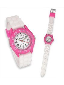 Ceas copii - Crystal Blue - White & Pink
