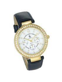 Ceas dama Crystal Blue - Gold Case & Black Band