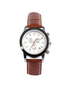 Ceas Dama Crystal Blue - Time & Date - Brown