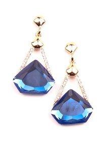 Cercei cu cristale albastre