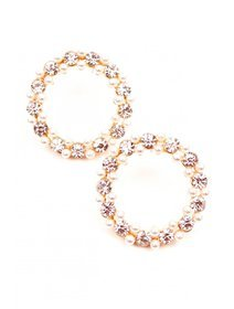 Cercei cu perle si cristale fashion