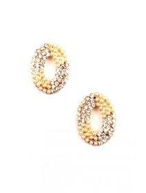 Cercei cu pietre si perle fashion