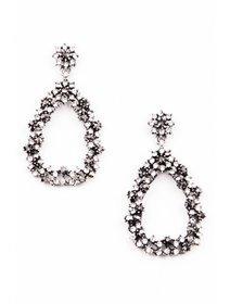 Cercei eleganti cu cristale negre si albe