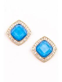 Cercei fashion , in nuante de albastru