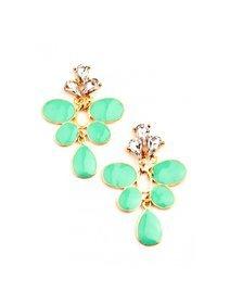 Cercei verzi cu cristale fashion
