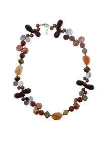 Colier cu pietre semipretioase si perle de cultura