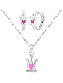 Set bijuterii copii, din argint, - Princess Love