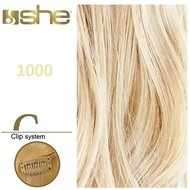 Extensii clips 9 buc 120 gr 50-55 cm She By SoCap