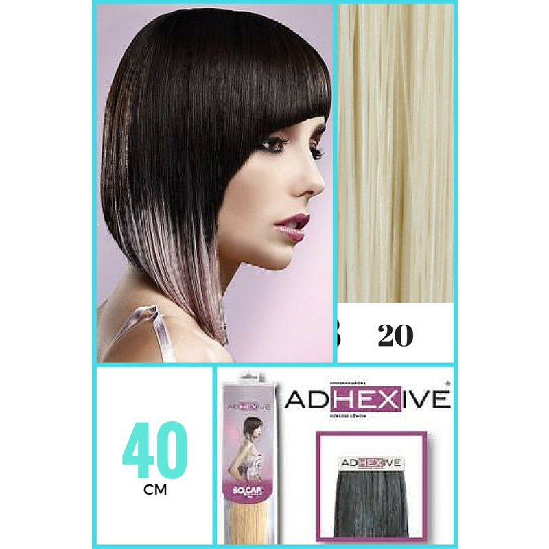 Extensii Cu Adeziv Tape In So Cap Original 40 Cm Culoareaa 20 Blond Luminos