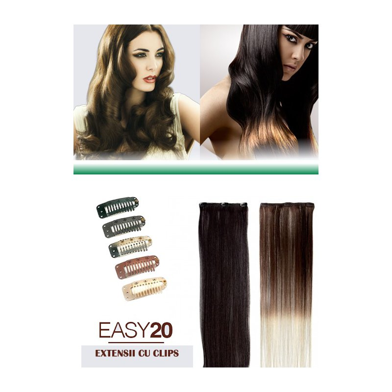 Extensii Par Natural Easy20 Cu Clips By Socap Original