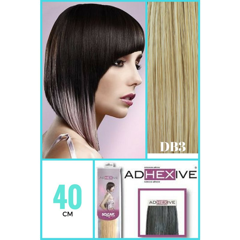 Extensii Tape In Din Par Natural So Cap 40 Cm Culoarea Db3 Blond Inchis