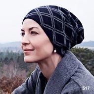 Turban bascuta din casmir si lana naturala WILLOW