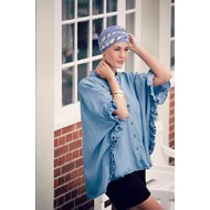Turban Shanti Bicolor Designer Christine Headwear 537 LILA-KALEIDOSCOPE
