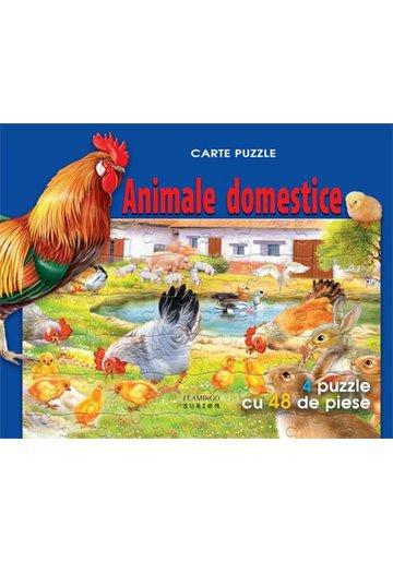 Animale domestice carte puzzle
