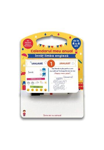 Calendarul meu anual: Invat limba engleza - de la 4 la 6 ani