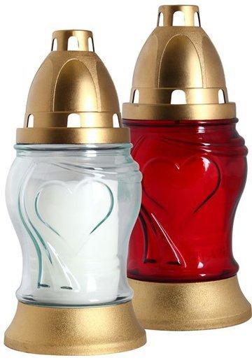Candelă din sticlă în formă de felinar M2001