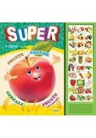 Carte cu sunete: Super fructe, legume... (romana+engleza)