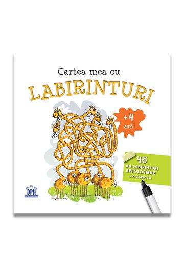 Cartea mea cu LABIRINTURI - 46 de labirinturi refolosibile + o carioca  (+4 ani)
