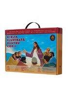 Colectia Biblia ilustrata pentru copii (12 volume) + Cutie Cadou