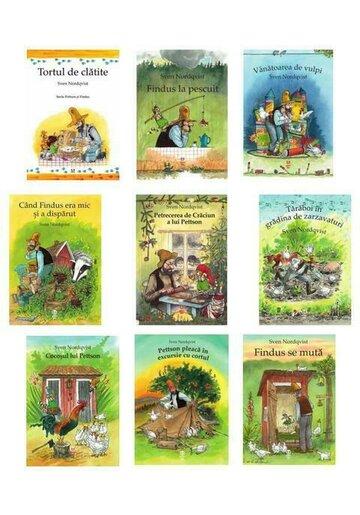 Colectia completa Pettson & Findus. Set 9 carti