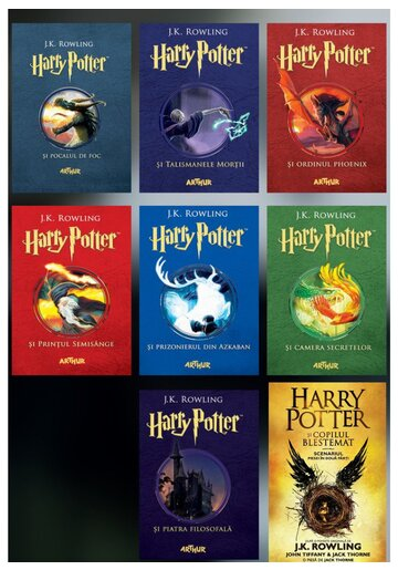 Colectia Harry Potter. Set 8 Volume