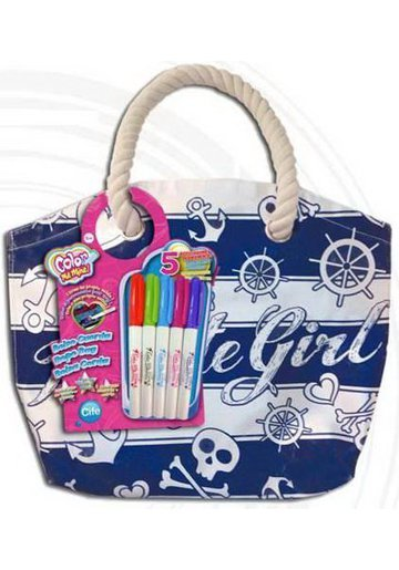 Color Me Mine Rope Bag Pirate Girl