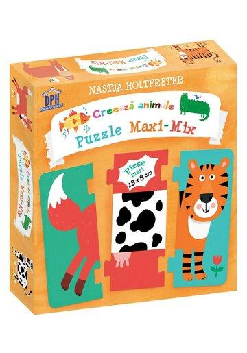 Creeaza animale - Puzzle Maxi-Mix