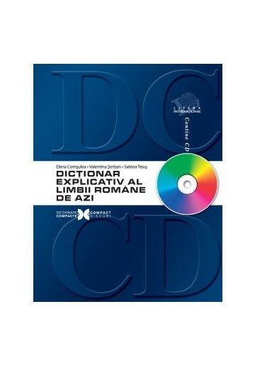 Dictionar explicativ al limbii romane de azi - cu cd-rom