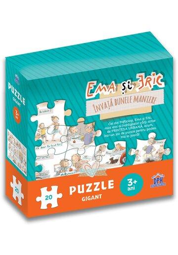 Ema si Eric invata bunele maniere. Puzzle gigant