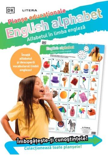 English Alphabet. Alfabetul in limba engleza. Planse educationale