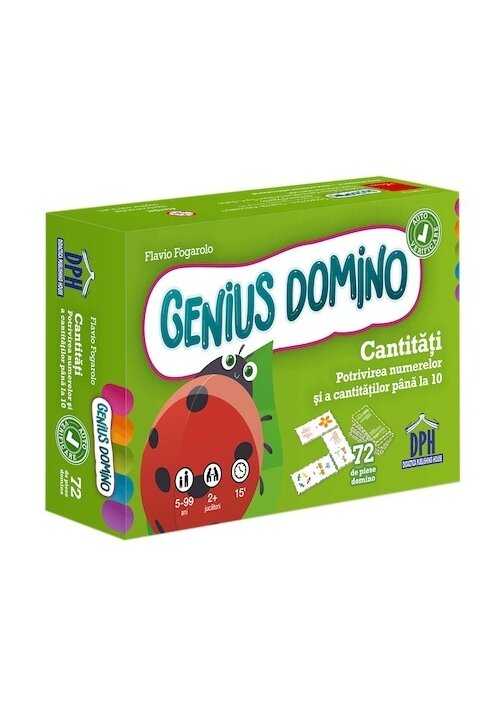 Genius domino: Cantitati - Potrivirea numerelor si a cantitatilor pana la 10