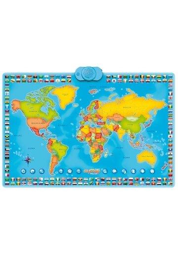 Harta interactiva a lumii Momki, bilingv, romana-engleza
