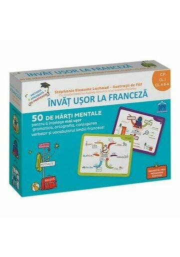 Invat usor la franceza - 50 de harti mentale. VOLUMUL I - CP, CLS. I, A II-A