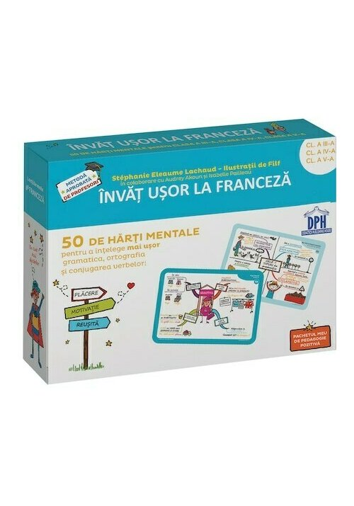 Invat usor la Franceza: 50 de harti mentale - Volumul II - Cls. a III-a, a IV-a, a V-a