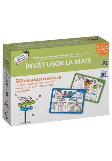 Invat usor la Mate: 50 de harti mentale - Volumul II - Cls. a III-a, a IV-a, a V-a