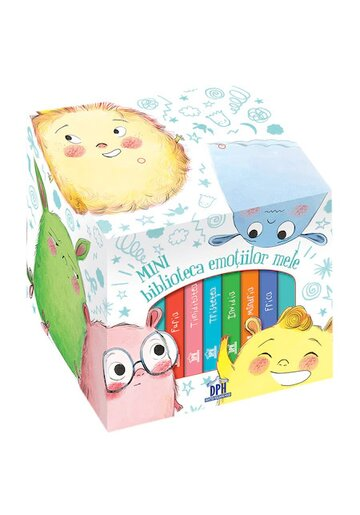 Mini Biblioteca emotiilor mele. Cutie cu 6 carticele