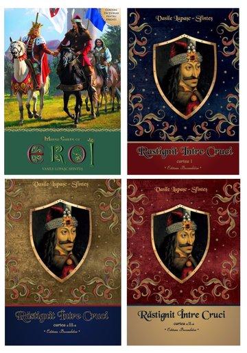 Pachet de autor Vasile Lupasc - Trilogia Rastignit intre cruci (Set 3 volume) + Marea carte cu eroi