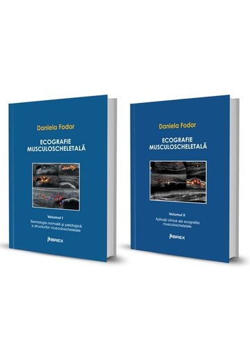 Pachet Ecografie musculoscheletală - Daniela Fodor - Vol. I + Vol. II