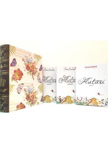 Pachet FLUTURI 3 Volume + Cutie CADOU in forma de carte